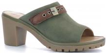 Scholl CALAVI dámské pantofle na podpatku kaki
