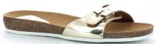 Scholl BAHAMAIS dámské zdravotní  pantofle stříbrná