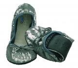Scholl PB PAILLETTES dámské balerínky stříbrná