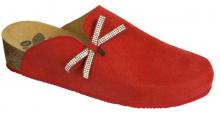 Scholl AMBLA  dámská  zdravotní domácí obuv červená