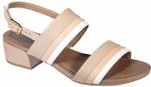 Scholl STEPHANIE dámské  sandále na podpatku béžová
