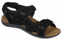Scholl SPINNER černé zdravotní sandály černá