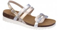 Scholl SOFIA SANDAL dámské zdravotní sandály stříbrná