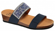 Scholl CECILIA MicroStrass dámské pantofle navy modrá
