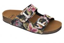 Scholl GREENY MALAREN  dámské pantofle květinová