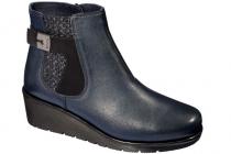 Scholl NIKIBUCKLE dámská kotníková obuv modrá