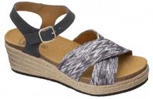 Scholl SEVILLA SANDAL dámské sandále na klínku šedá/multi