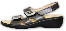 Patrizia dámské sandály na klínku černá/multi