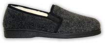 Domácí zateplená obuv černá