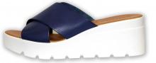 Patrizia letní pantofle na klínku modrá