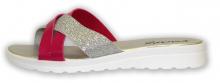 Patrizia letní pantofle stříbrná