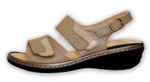 Patrizia dámské sandále na klínku béžové béžová
