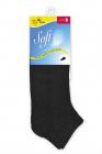 Bavlněné ponožky nízké černá