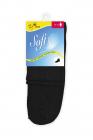 Bavlněné ponožky střední černá