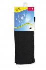 Bavlněné ponožky vysoké černá